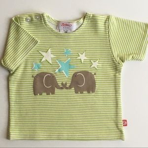 Zutano shirt 6 months elephants start boys girls